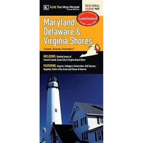Universal Map Maryland/Delaware/Virginia Shores Laminated Map