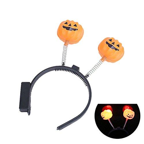 LUOEM LED Kürbis Stirnband Halloween Kostüm Stirnband Haar Band Kopfschmuck Light-Up Haarband Kopfschmuck für Kinder (Band Kostüme Für Halloween)