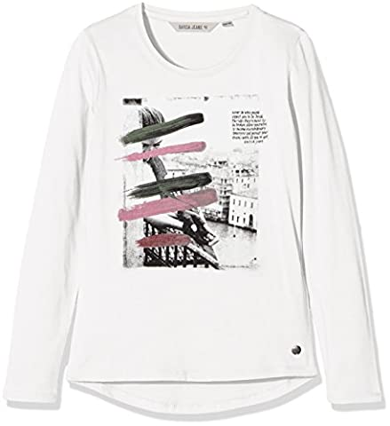 Garcia Kids H72601, T-Shirt Manches Longues Fille, Weiß (Off White 53), 14 Ans