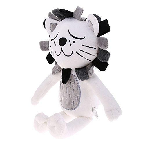 MagiDeal Plüschtier Löwe Katze Weiches Kissen Baby Stofftier Spielzeug Stoffspielzeug Liebhaber Hochzeit Kissen - Löwen
