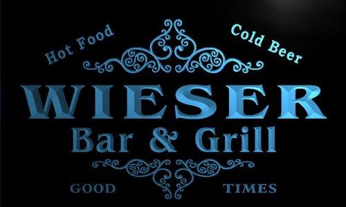 u48401-b WIESER Family Name Bar & Grill Home Decor Neon Light Sign Barlicht Neonlicht Lichtwerbung