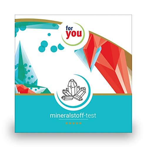 for you mineralstoff-test I zertifizierter Labor Test zur Messung der 10 wichtigsten Mineralien zB Eisen Zink Magnesium Jod Calcium testen I Mineralien testen I Bluttest für Zuhause