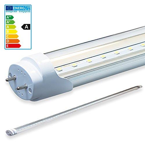 LEDVero 10x SMD LED Röhre/Tube Leuchtstoffröhre T8 G13 transparente Abdeckung – 60 cm, 8W, 800lm
