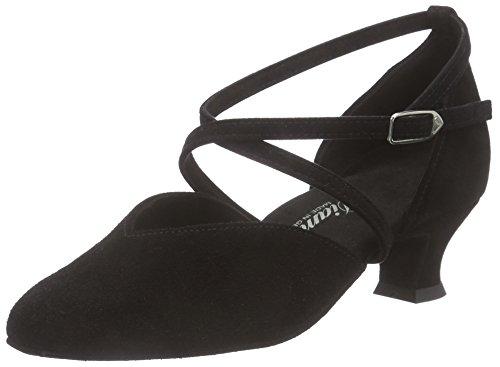Diamant Diamant Damen Tanzschuhe 107-013-001, Chaussures de Danse de salon femme Noir - Noir