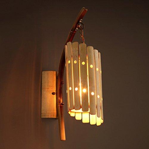 The harvest season- Wandleuchte Bambus Flöte Schlafzimmer Nachttischlampe Spiegel Vorne Leuchten Lampen -E27 Lampe