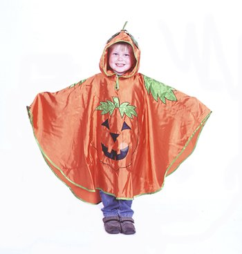 Kürbis Kostüm für Kinder - Kürbis Umhang Halloween - Kinder (3-8 Jahre) - Slimy (Kostüme Halloween Jungs Für)