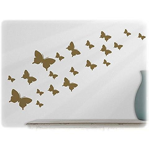 Decorazione per piastrelle, a forma di farfalle, 2 set da