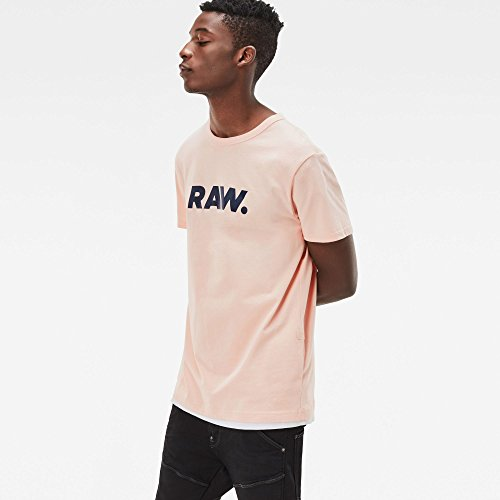 G-STAR RAW Herren T-Shirt Holorn R T S/S Rosa (Necta Peach 7171)