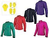 HEYBERRY Damen Soft Shell Jacke Motorradjacke Textil Schwarz Gr. L / 40
