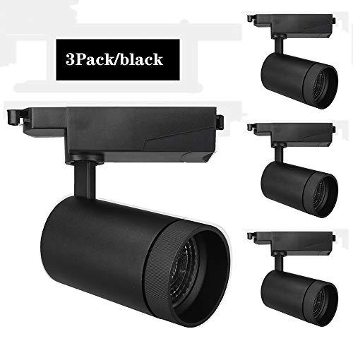 Aione Commercial Spotlights Kit mit 3 LED-Schienen-Deckenleuchten, warmes Licht, natürliche und kühle weiße schwarz/weiße Schale,35wBlack,4000k - Vertiefte Schale