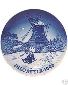 Bing & Grondahl 1996 Assiette de Noël --Winter at The Old Mill --Porcelaine Fine Danois --Édition Limitée - NOUVEAUTÉ - en Boîte