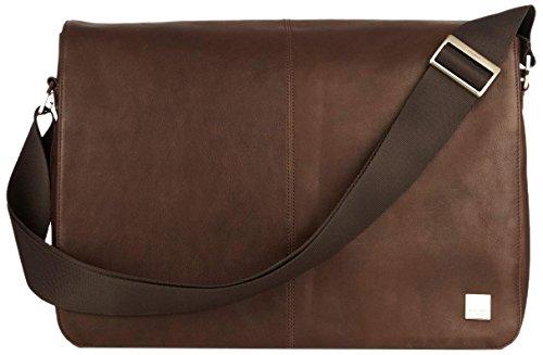 Knomo 54-112-BRN Brompton Bungo Expandable Messenger Leder Tasche für Notebook (15,6 Zoll) braun
