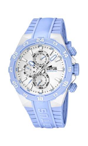 Lotus 15800/9 - Reloj analógico de cuarzo para mujer con correa de plástico, color azul