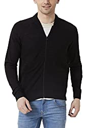 Peter England Mens Regular Fit Sweater_ ESW51500765_M_ Black