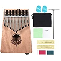 Creative 17 Key Kalimba Thumb Piano Pocket Size Finger Piano for Beginners Children Wooden Musical Instrument