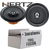 Hertz DCX 165.3-16cm Koax Lautsprecher - Einbauset für Ford Fusion Front Heck - JUST SOUND best choice for caraudio