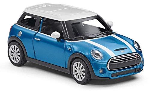 Mini Cooper S Miniatur 1:36 Modellauto Miniatur Rückziehauto 80442447939 (Blau)