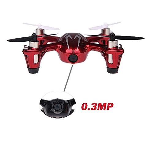 100% Original Hubsan X4 H107C 2.4G 4CH RC RTF LED Mini Quadcopter 2 Caméra Télécommande Rouge