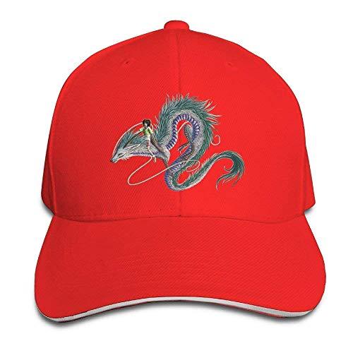 ewtretr Style Sandwich Bill Cap Spirited Away Dragon Snapback Caps Adjustable Unisex Suitable For All Seasons