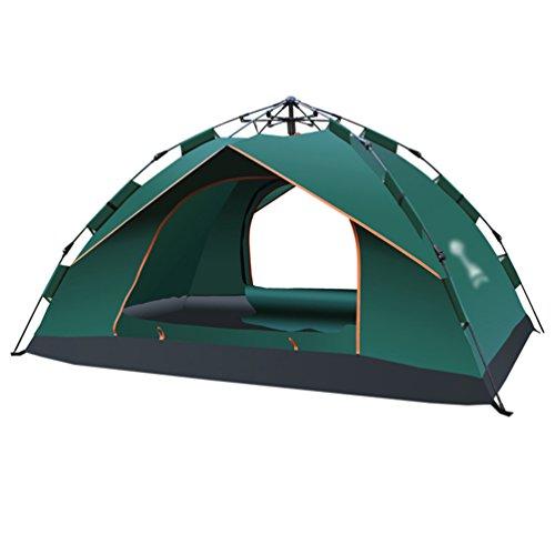 Dooxi 3-4 Outdoor Familie Tragbares Strand Zelt Wasserdicht Pop Up Camping Zelte mit Doppel-Tür Grün
