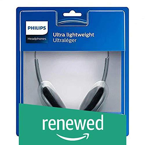 Renewed  Philips SBCHL140/98 On Ear Headphones  Gray