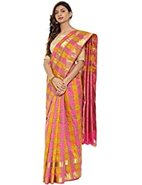 CLASSICATE From the house of The Chennai Silks Traditional Silk Saree (CCMYSS10381 - Olive Green & Pink)