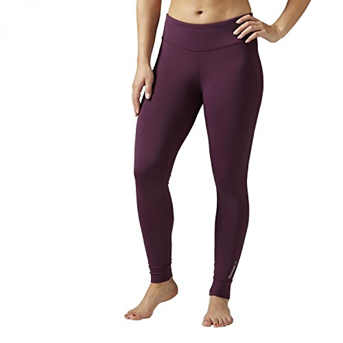 REEBOK Damen AC Tights Leggings, Violett/Pacprp, S (Reebok Yoga)