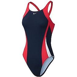 Nike NESS7051-647 Bañador de Competición, Mujer, Rojo, 38