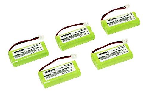 INTENSILO 5x NiMH Batteria 800mAh (2.4V) per Telefono Fisso Cordless Siemens Gigaset AL145 DUO, AL14H, AS14 sostituisce V30145-K1310-X359.