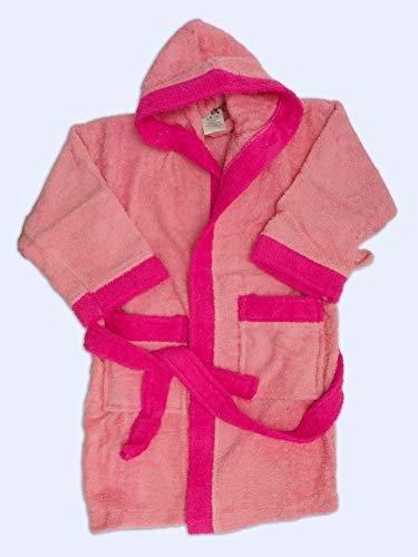 Albornoz para niño de 4 - 6 años T4 color rosa