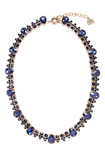Happiness-Boutique-Damen-Statement-Kette-in-Blau-XXL-Halskette-mit-Steinen-in-Knigsblau-nickelfrei