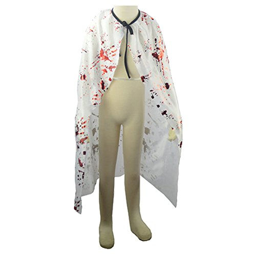 umhang mit Blutfleck Kostüm Teufel Umhang Verkleidung Mantel für Magier Halloween Theater Karneval Fasching ()