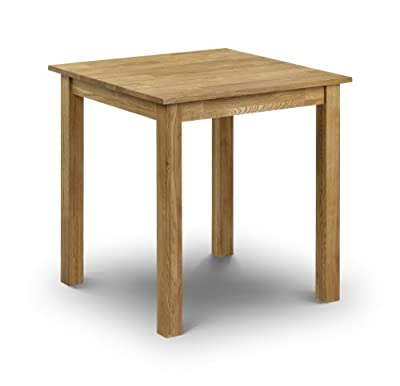 Julian Bowen Coxmoor Oak Square Dining Table - inexpensive UK dining table shop.