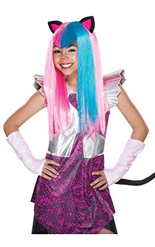 Rubie 's Offizielles Monster High Mattel Catty Noir Perücke, Kinder Kostüm-EINE - Monster High Clawdeen Kostüm Mit Perücke