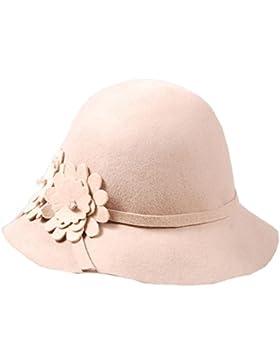 Mai Dou Otoño Invierno Señora Flor Arco Sombrero Sombrero De Moda De Lana Sombrero Hat Bud