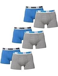 PUMA Herren BASIC Shortboxer Boxershort Unterhose 6er Pack in vielen Farben