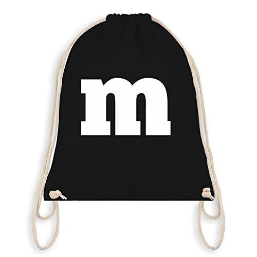 - Gruppen-Kostüm m Aufdruck - Unisize - Schwarz - WM110 - Turnbeutel I Gym Bag (Weiße Oder Schwarze Kostüme Handschuhe)