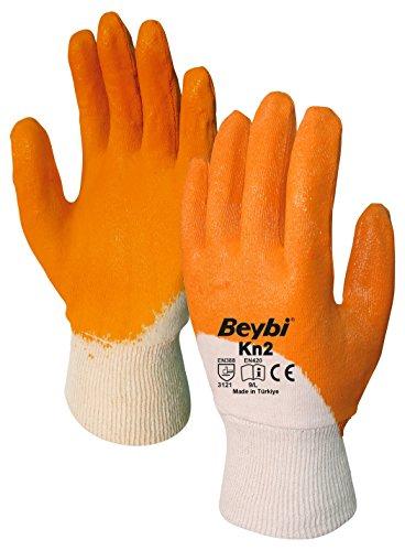 Beschichtete Arbeits-handschuhe (Arbeitshandschuhe Beybi 12er Packung EN 388 - Beschichtete Handschuhe für Arbeit, Garten und Haushalt EN 420, XL 10)