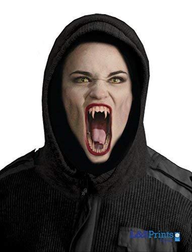 L&S PRINTS FOAM DESIGNS Halloween weiblich Vampire Novelty Fun Stoff Face Maske Design Snood Gesichtsmaske Hergestellt in Yorkshire