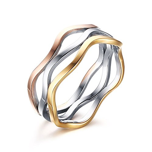 Fashion Brand Thin Ring for Woman Man Lady Wedding 316 L Stainless Steel Jewelry Never Fade (Mens Wedding Bands Infinity)