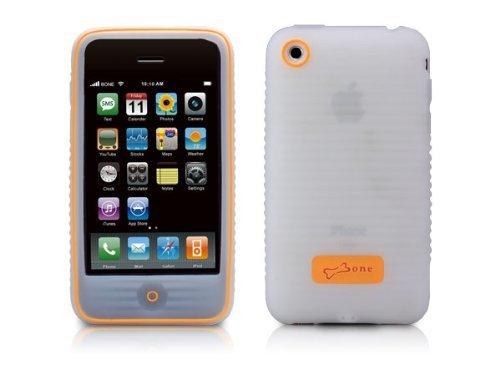 Bone PhoneWave PH08031-W Schutzhülle für iPhone3G (MicroPattern-Oberfläche, antistatisch, rutschhemmend), Weiß Iphone 3g Wave