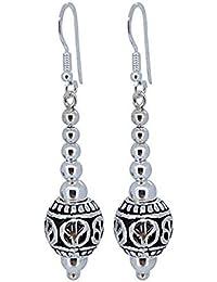 73cf9331b5e3 TreasureBay - Pendientes colgantes de plata de ley 925 con símbolo de la  paz para niñas