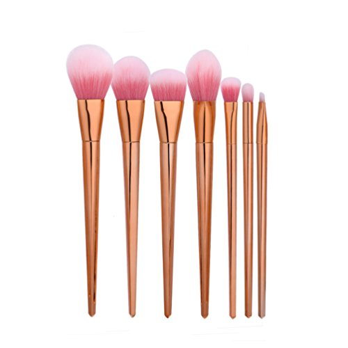 Fashion Base® Nouvelle arrivée 7 pcs Lot de pinceaux de maquillage sourcils Eyeliner Brosse Profession Fond de teint poudre blending Outil de beauté