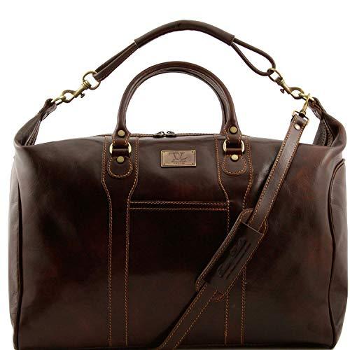 Tuscany Leather Amsterdam Sac de voyage en cuir Marron foncé