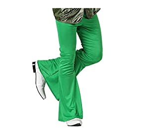 Atosa- Disfraz Pantalon Disco Verde Adulto Acampanado, Color, S (13268)