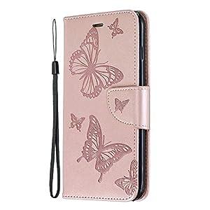 NEXCURIO iPhone 8 Plus/7 Plus Hülle Leder, Handyhülle Tasche Leder Flip Case Brieftasche Etui mit Kartenfach Stoßfest Schutzhülle für Apple iPhone 8Plus/7Plus – NEBFE140022 Blau