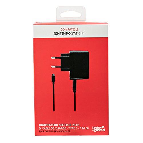 Adaptateur secteur 2,6 A + Câble de recharge USB Type-C 1,2 m pour Nintendo Switch [Importación francesa] 41s32SjDM7L