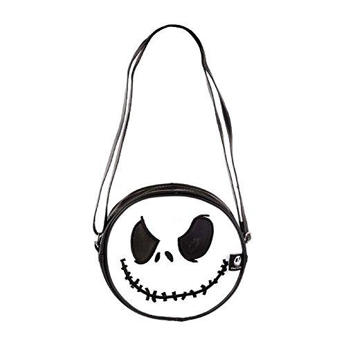istmas Handtasche Tasche Bag Reisetasche Umhängetasche Bügeltasche Jack Ø 22 cm x 5 cm Tief 100% PVC Lizenzprodukt (22375-000-000) (Friedhof Halloween Song)