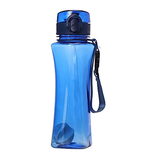 Getränk Flasche Fitness-Plastikwasser-Cup tragbare Reise Kettle Leak Proof Wiederverwendbare Durable Getränk Cup für Studierende Erwachsene 1pc Dark Blue 500ml ()