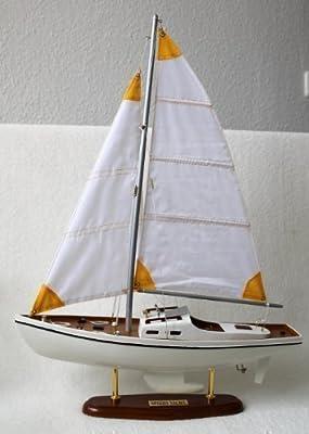 Schiff Segel-Motor-Yacht Segelyacht SPEEDY 62x44x12cm von Einkaufs-Paradies